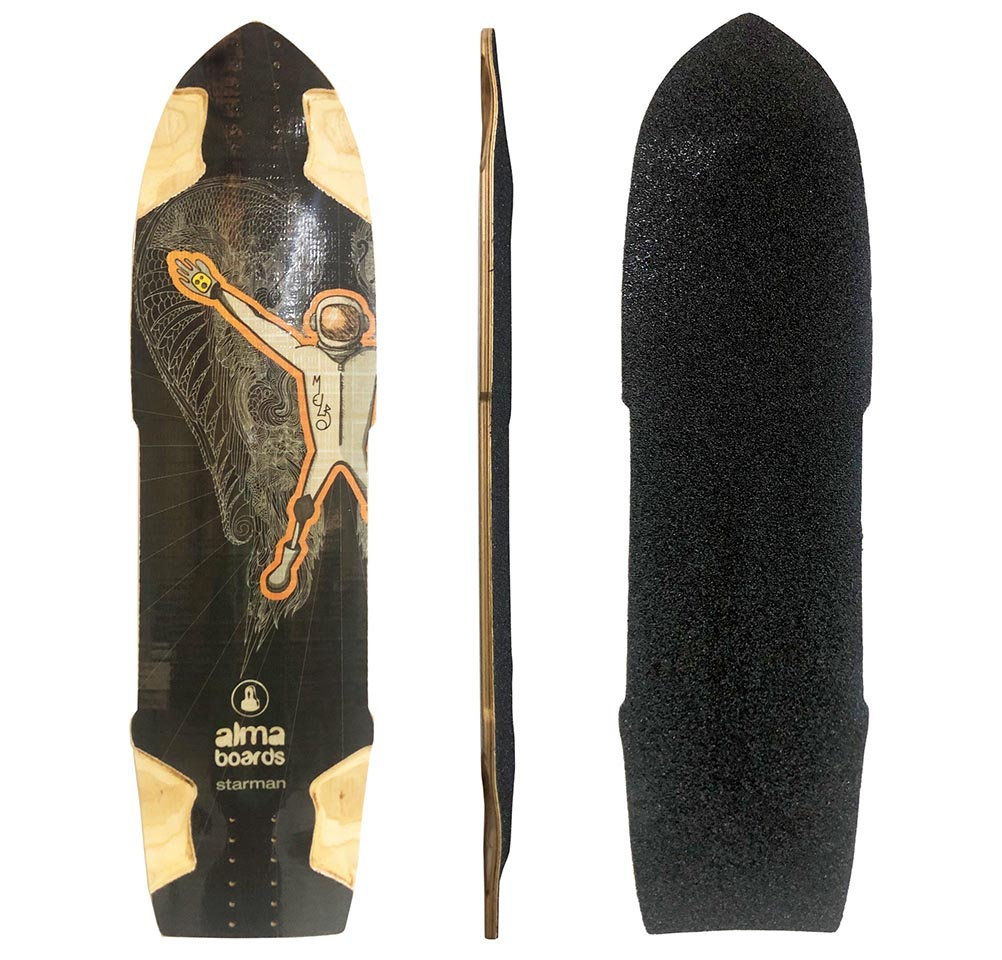 Shape Longboard Alma Starman - 100% marfim e fibra de vidro