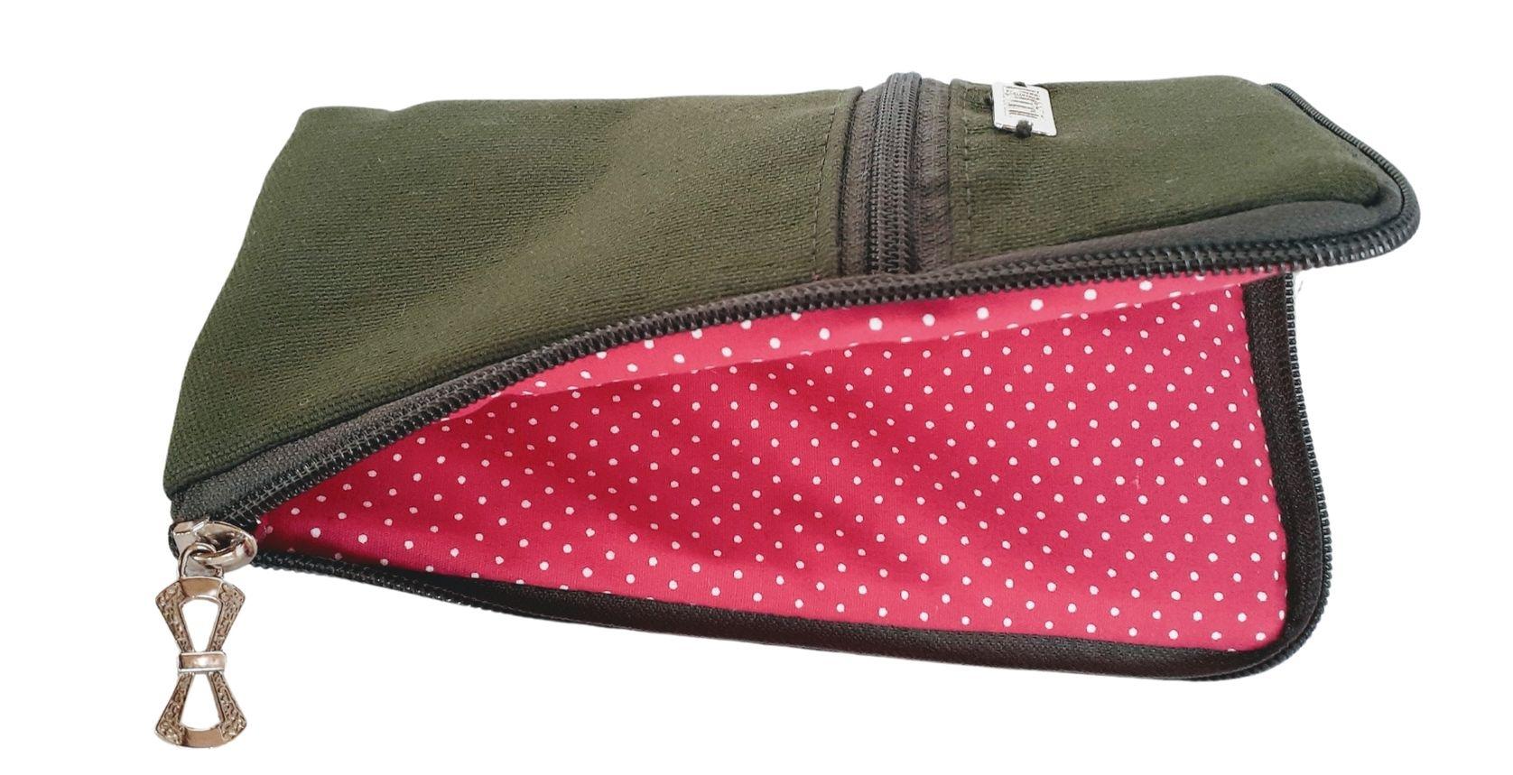 Capa para celular de tecido verde