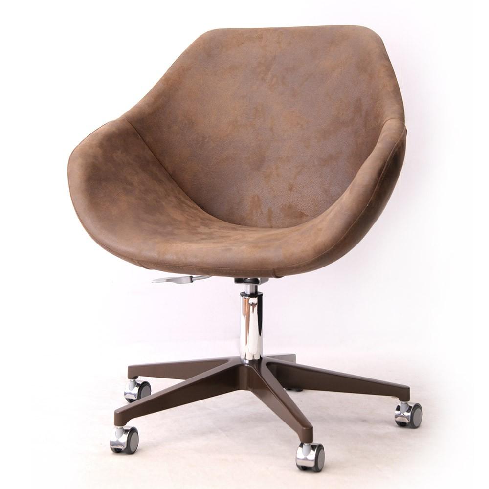 OSLO cadeira com braços e rodízios