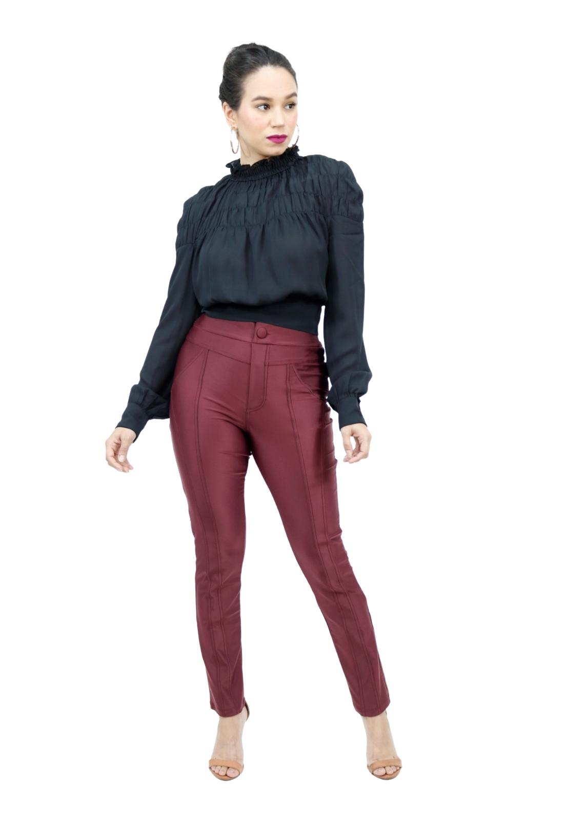 Calça Feminina Skinny Prada Costura Dupla
