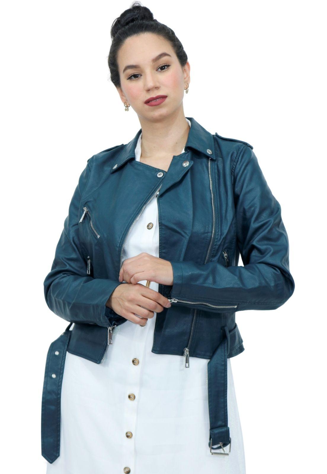 Jaqueta Feminina Material Sintético PU