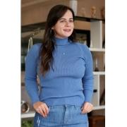 Blusa Cacharrel Canelada Unique Azul