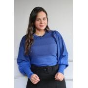 Blusa Degradê Bufante Shine Azul