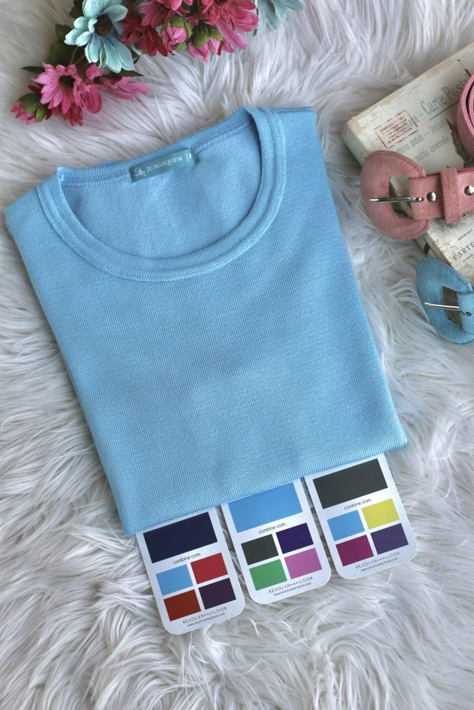 Blusa Comfy Premium Azul Serenity
