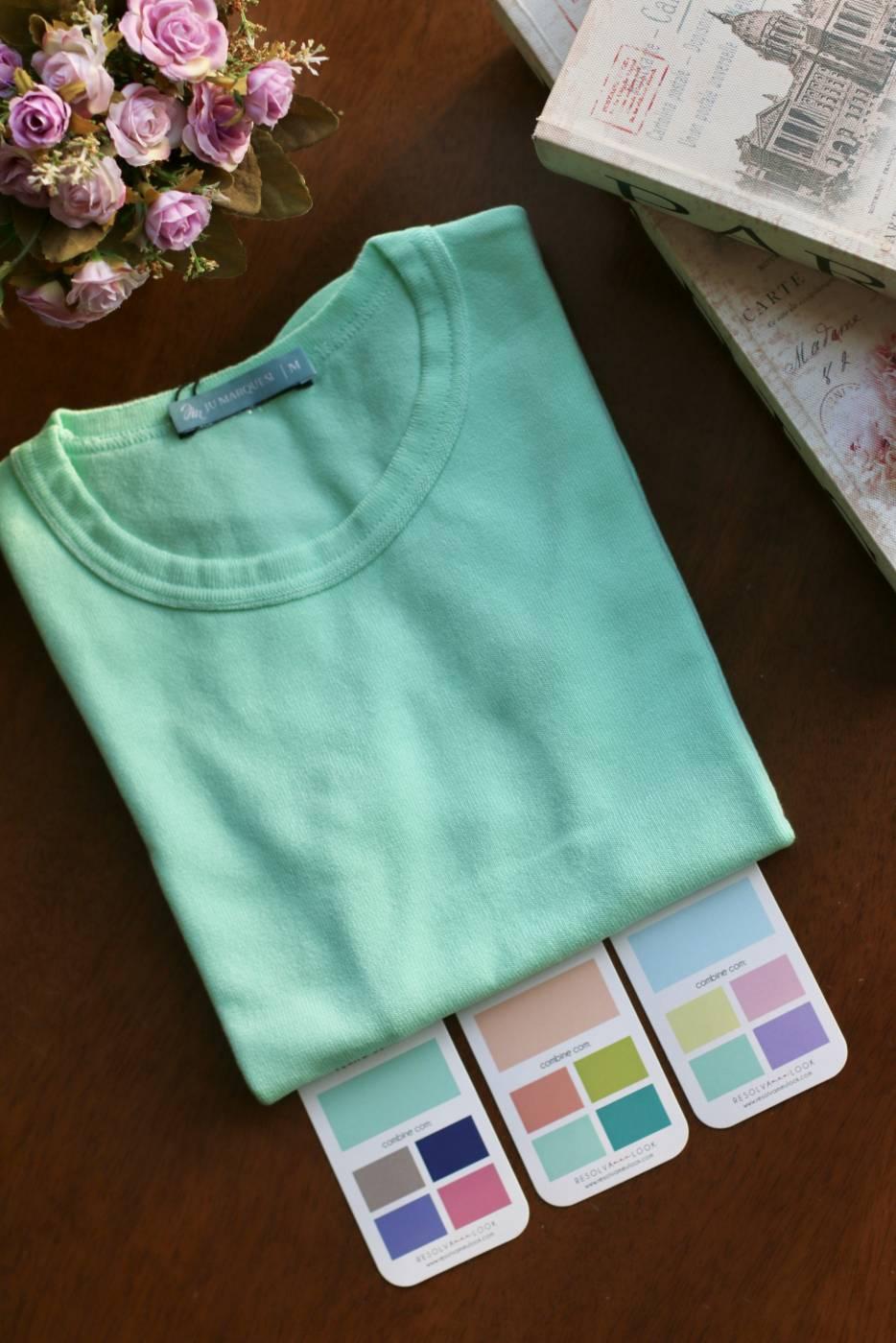 Blusa Basic Comfy Menta Suave