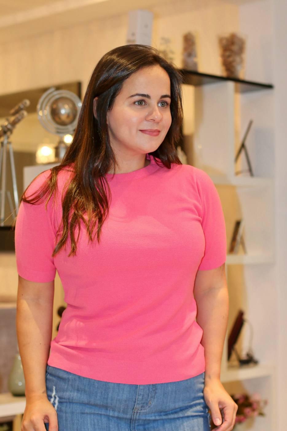Blusa Basic Essencial Rosa