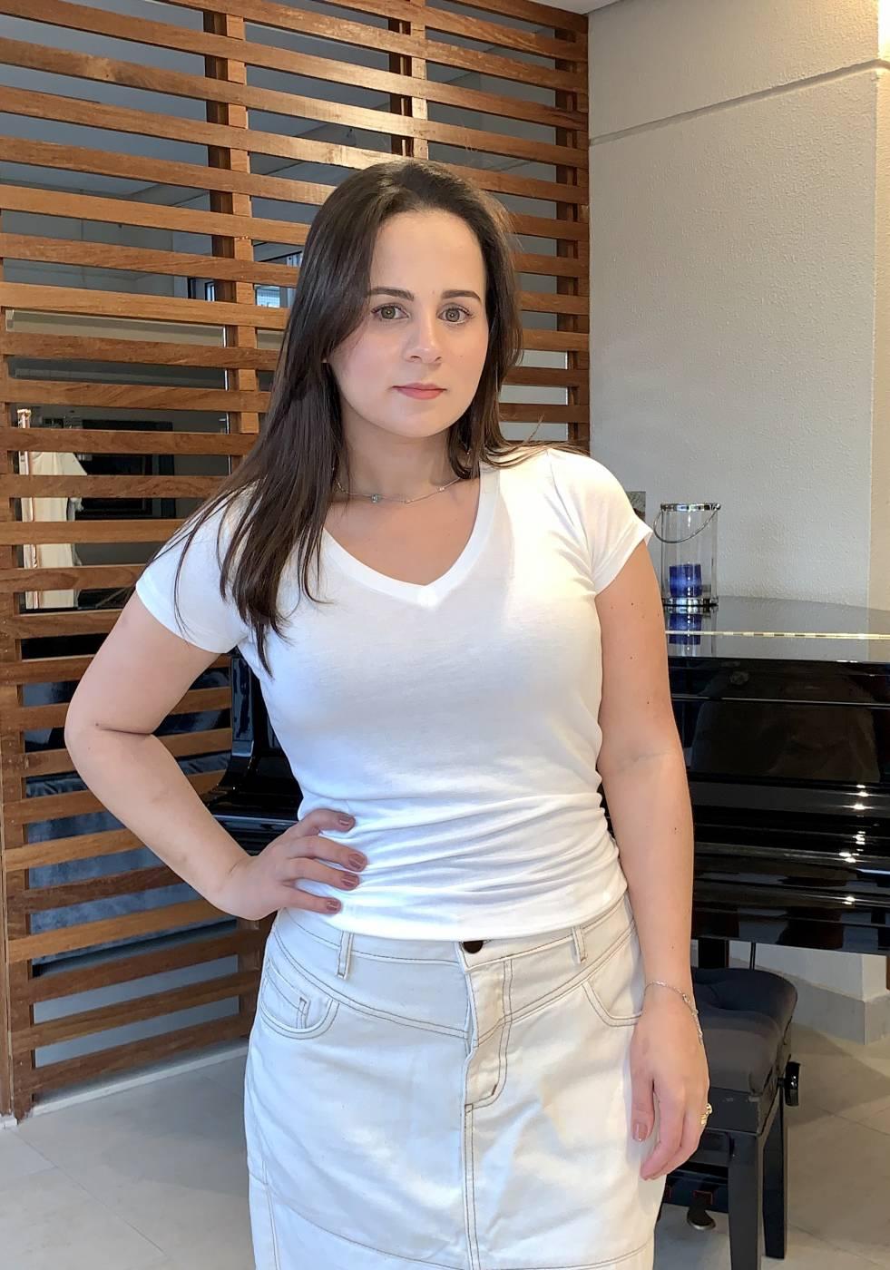 Blusa Basic Off-White Villon