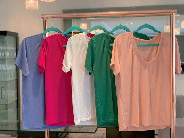 Blusa Basic Pink com Renda