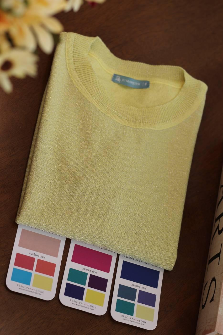 Blusa Basic Shine Amarelo