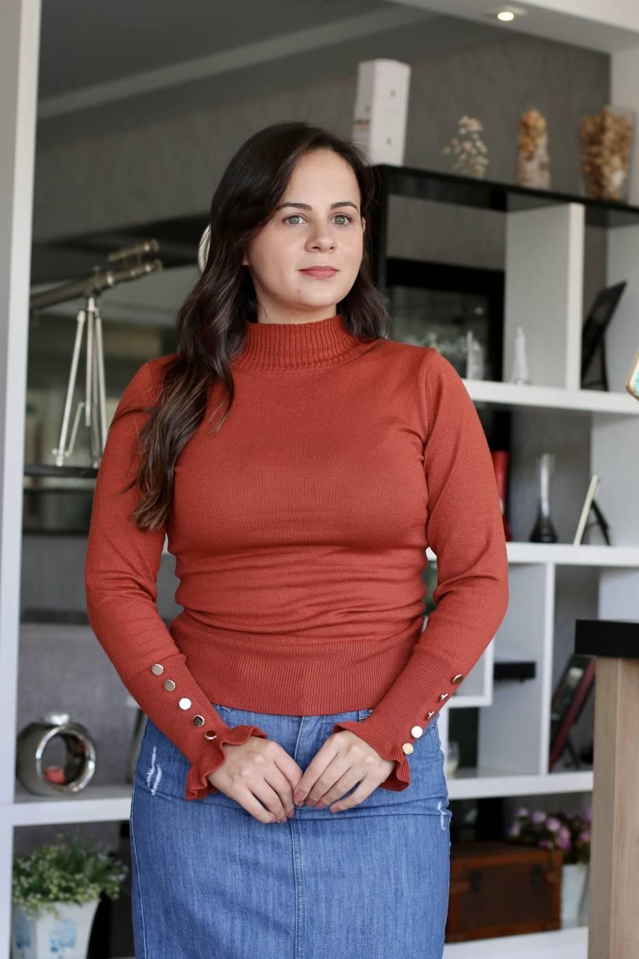 Blusa Cacharrel Delicate Terracota