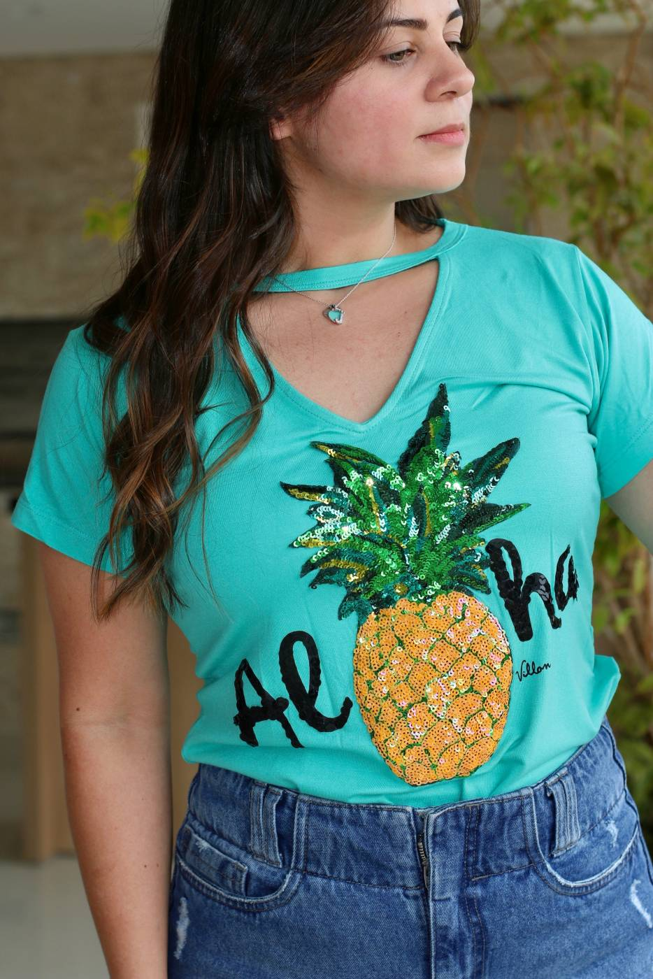 Blusa Choker Aloha Villon