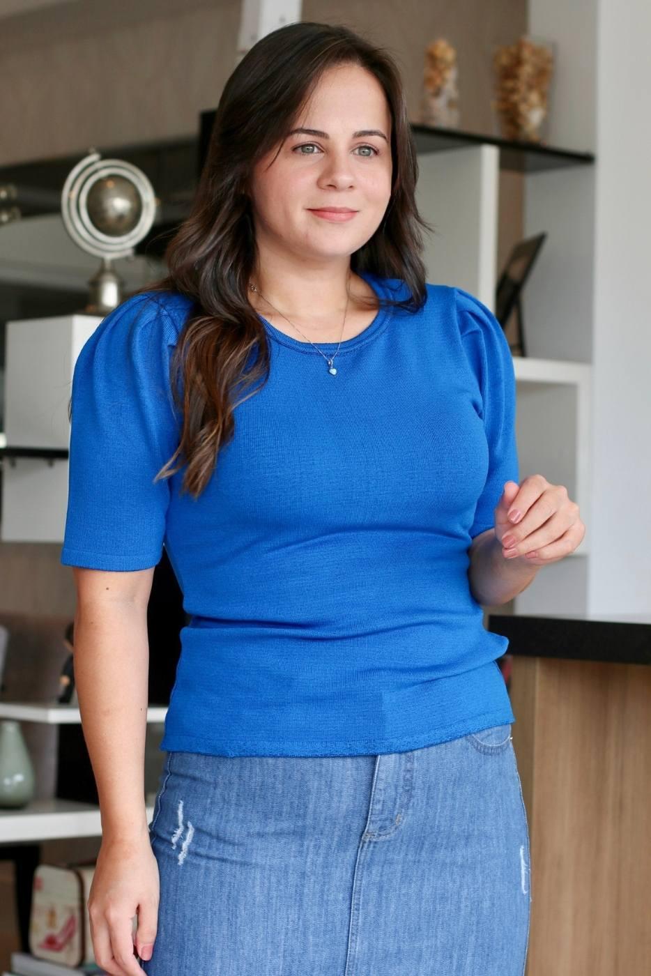 Blusa Basic Comfy Azul Clássico