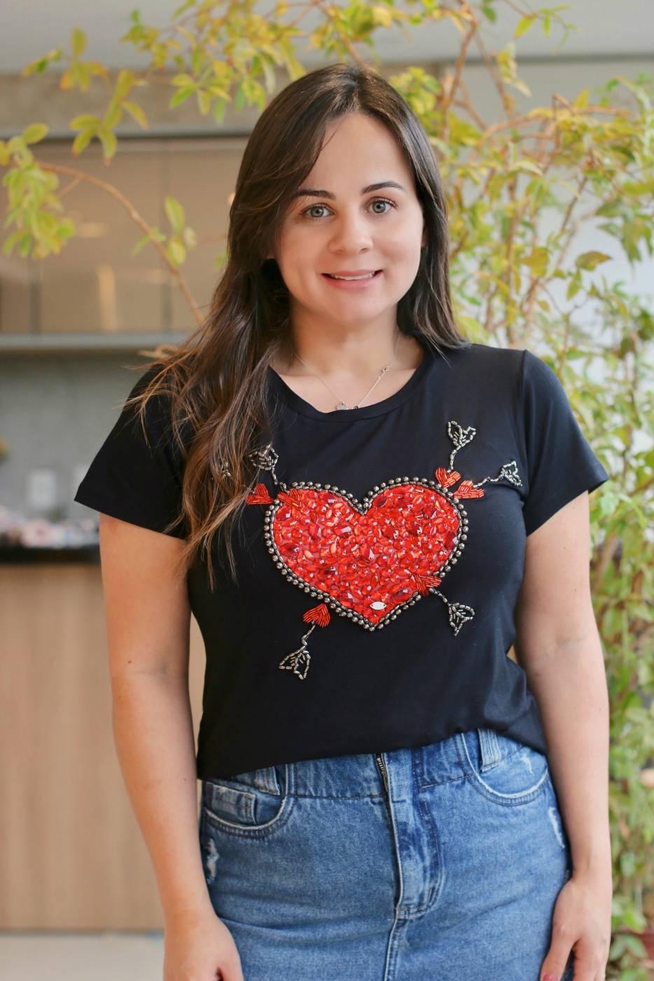 Blusa Coração Vermelho Villon