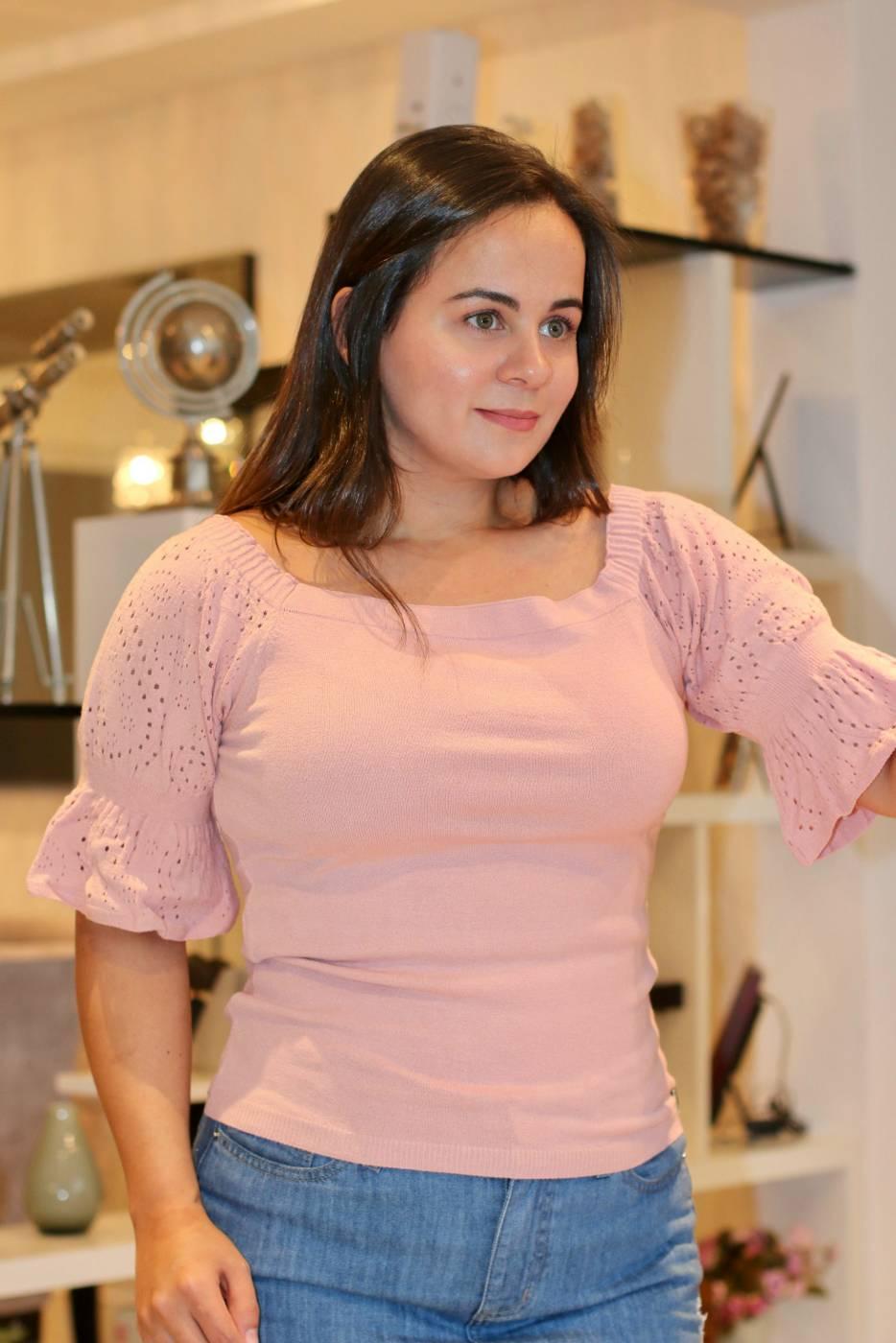 Blusa Decote Quadrado Soraya
