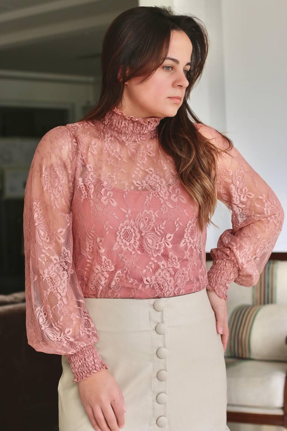 Blusa Elegance Renda