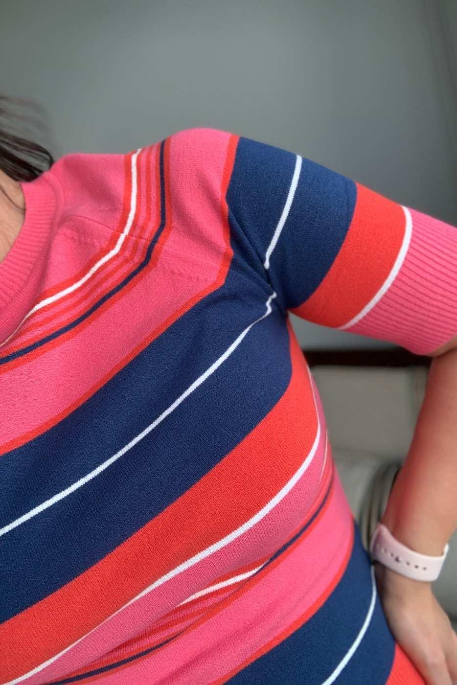 Blusa Essencial Listrada Rosa
