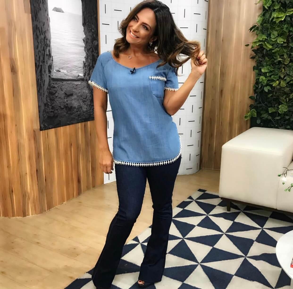Blusa Jeans Perolas Villon