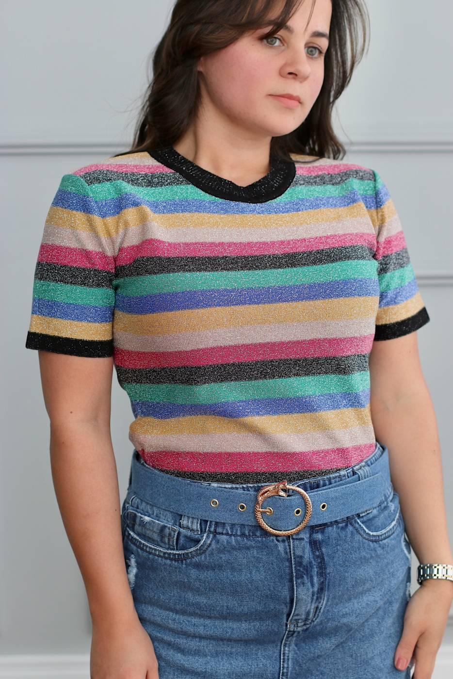 Blusa Rainbow Shine