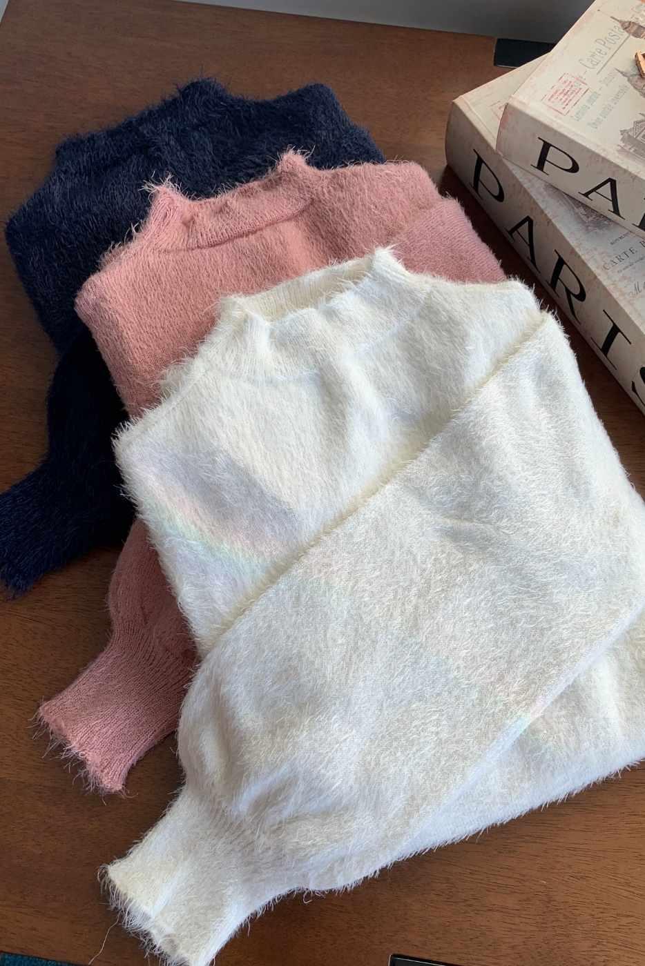Blusa Tricot Angora Pluma (+ CORES)