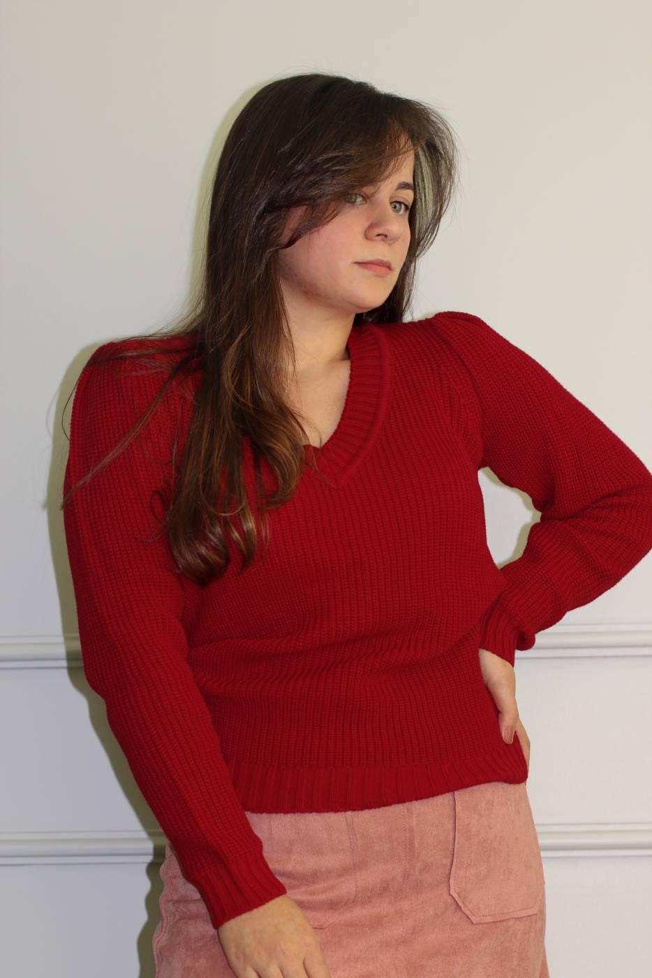 Blusa Tricot Gola V (+ CORES)