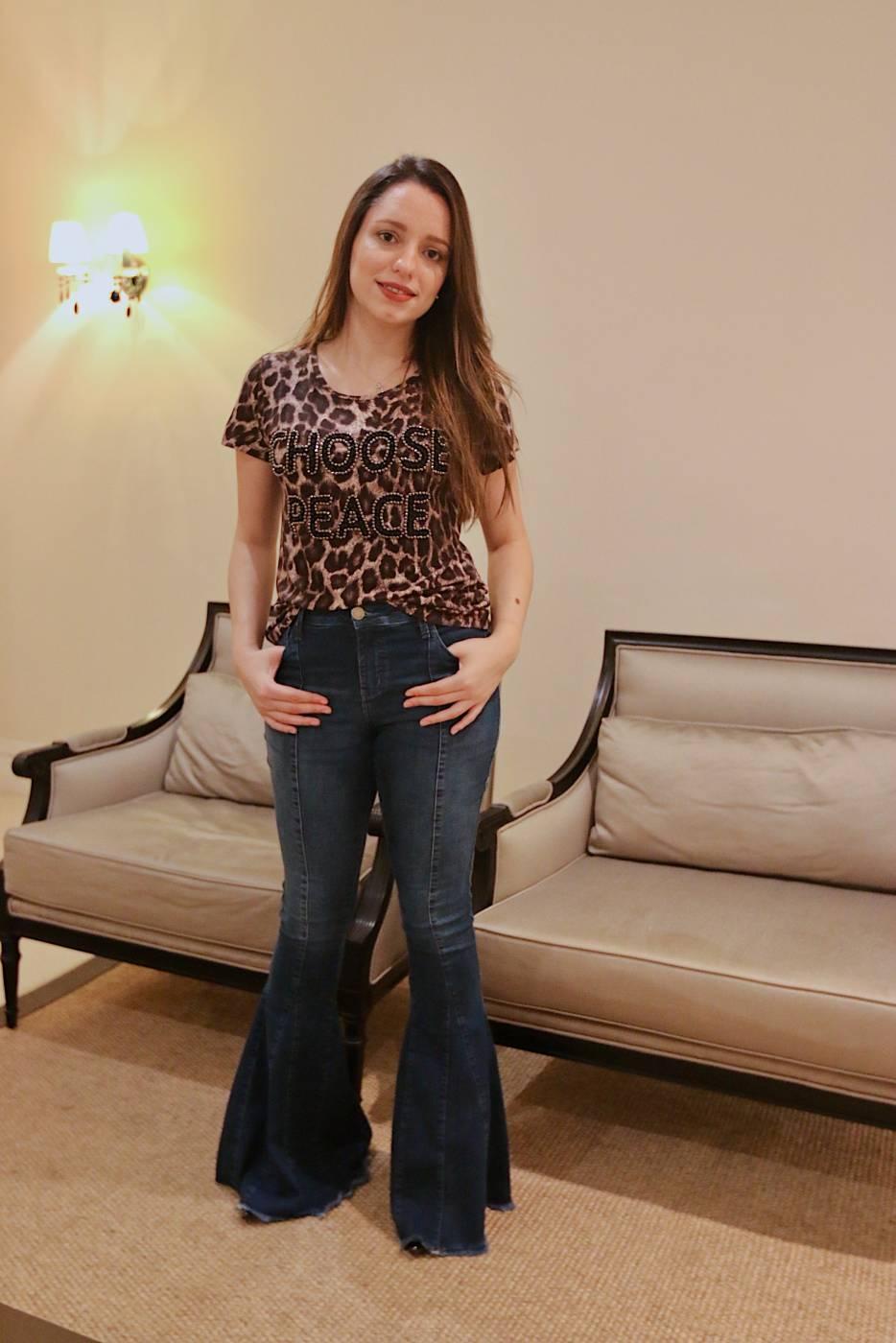 Calça Jeans Flare Villon