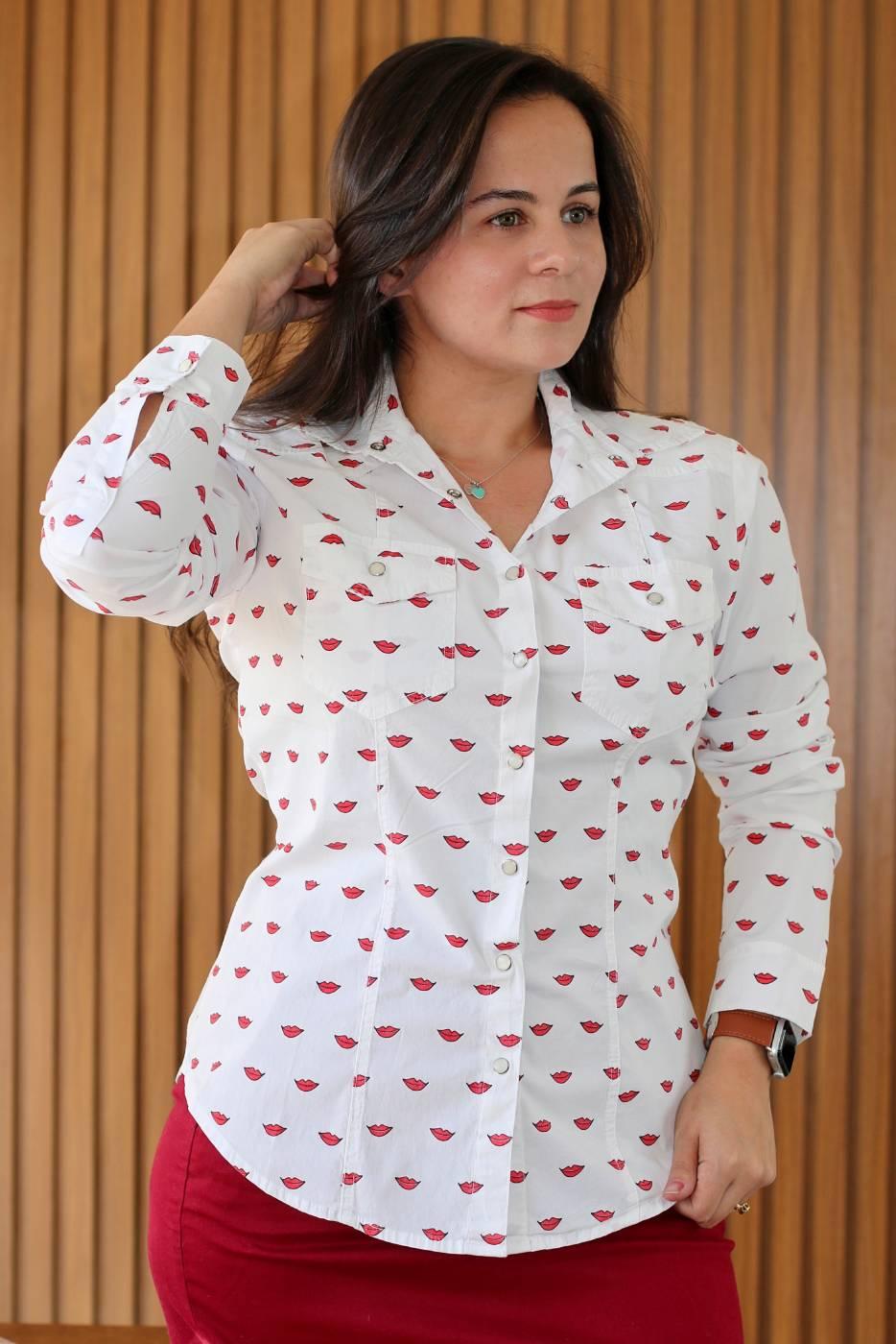 Camisa Branca Boca Villon