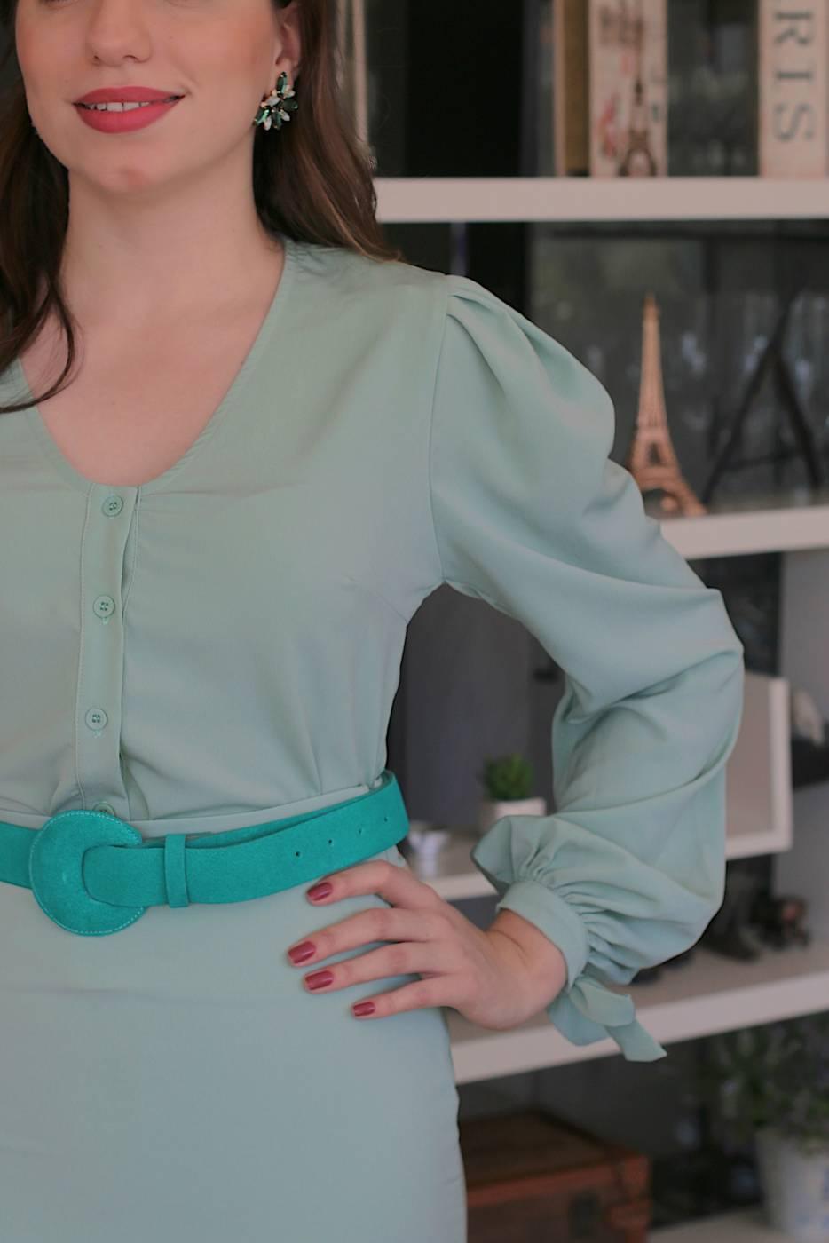 Camisa Delicate Verde Menta Hush