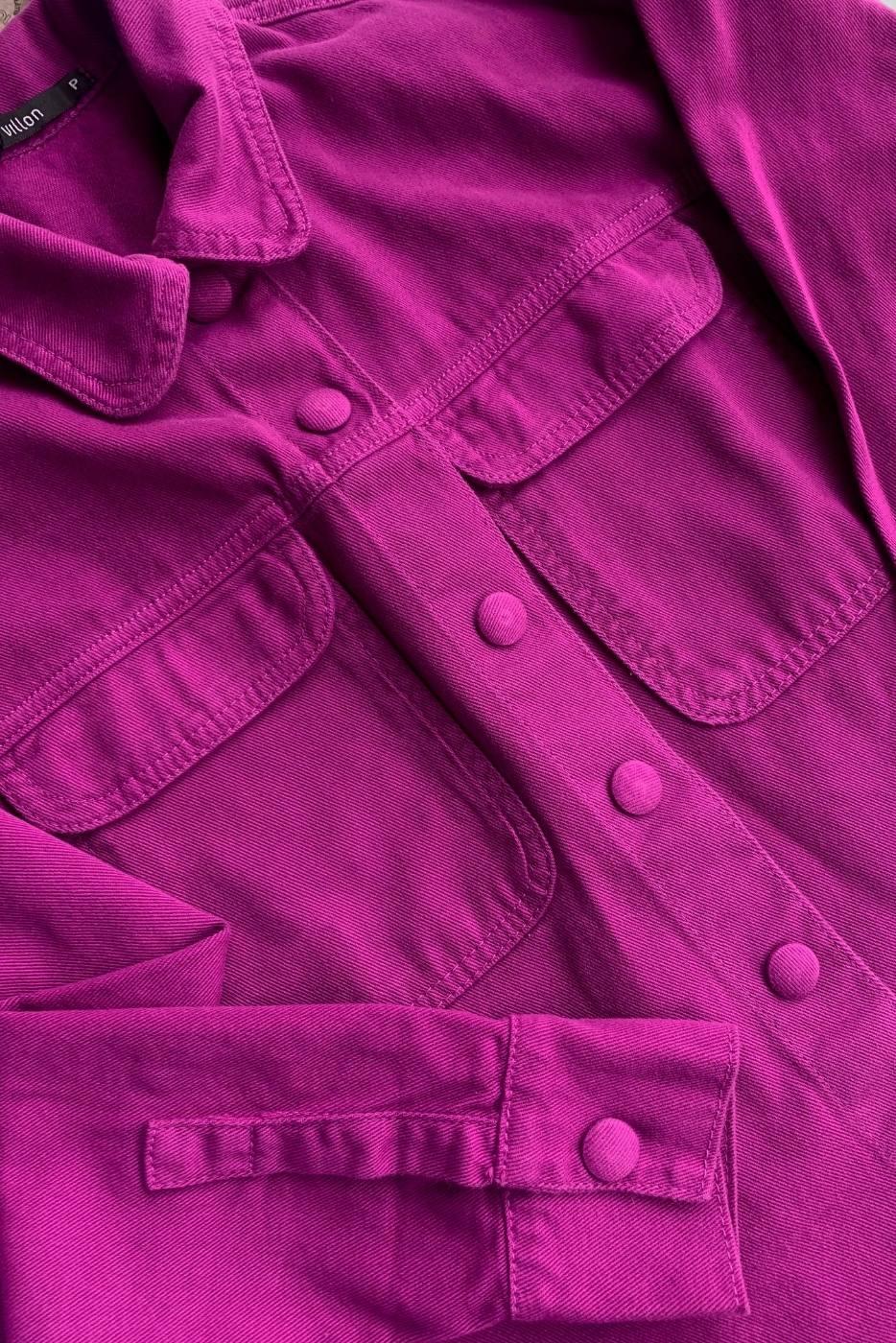 Camisa Jacket Jeans Magenta Villon