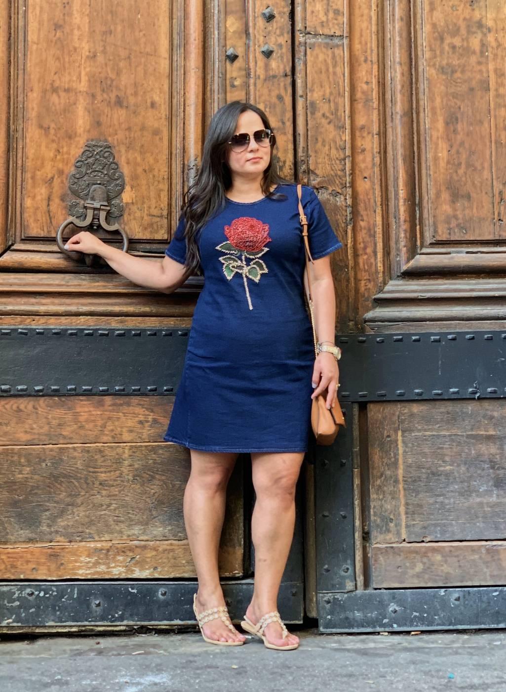 Vestido Jeans Flor Villon