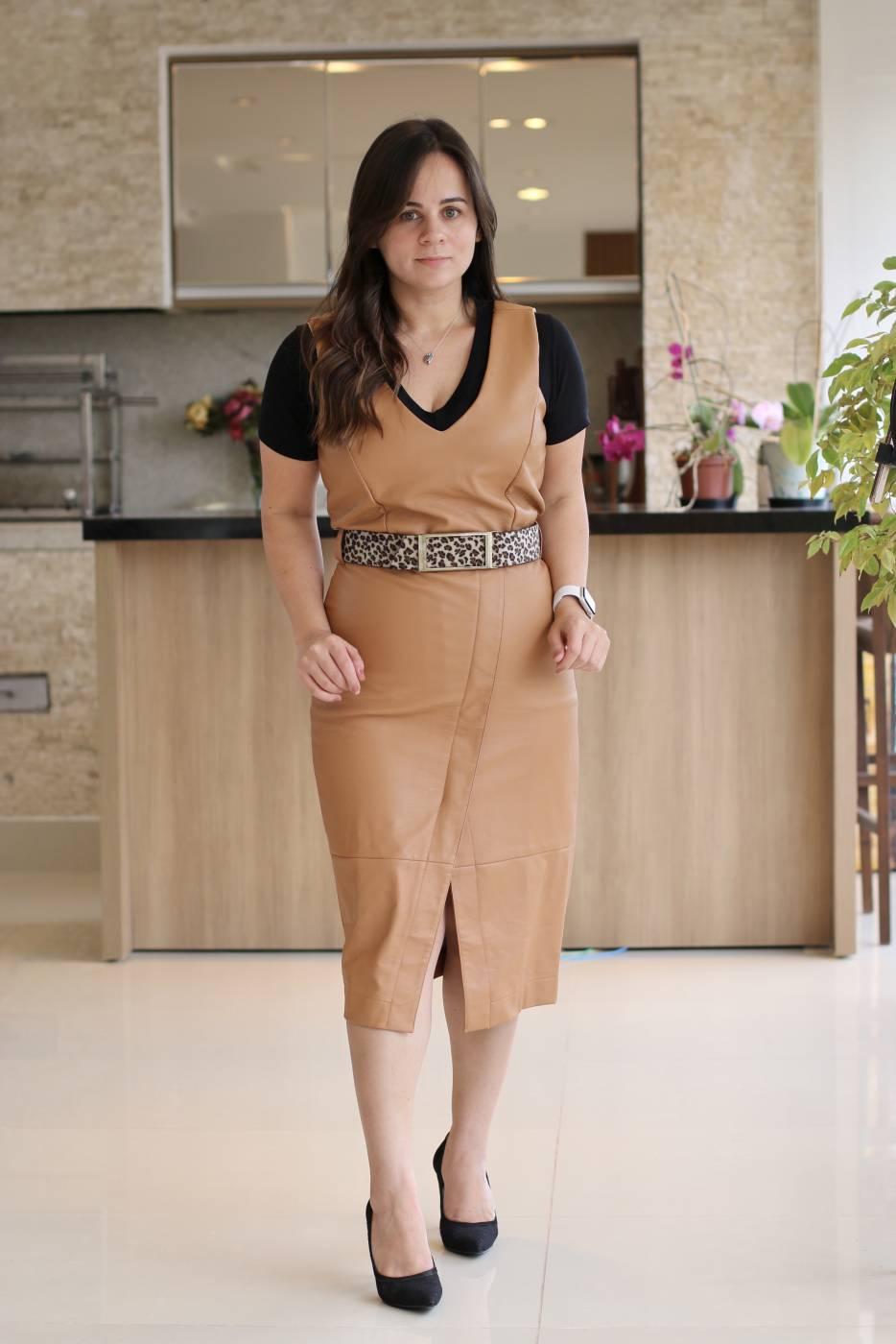 Vestido Midi Caramelo