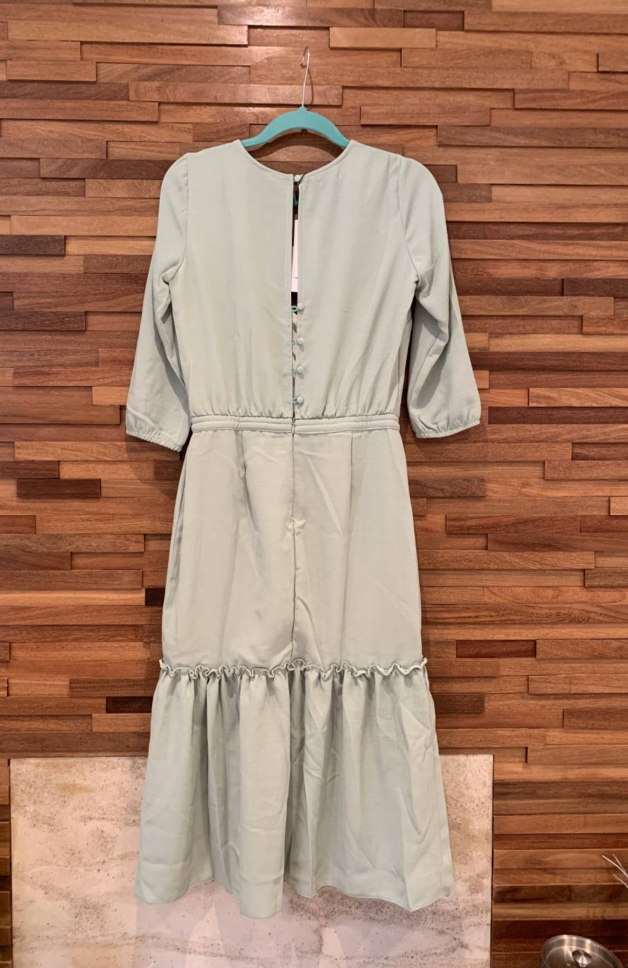 Vestido Midi Crepe Aquarella
