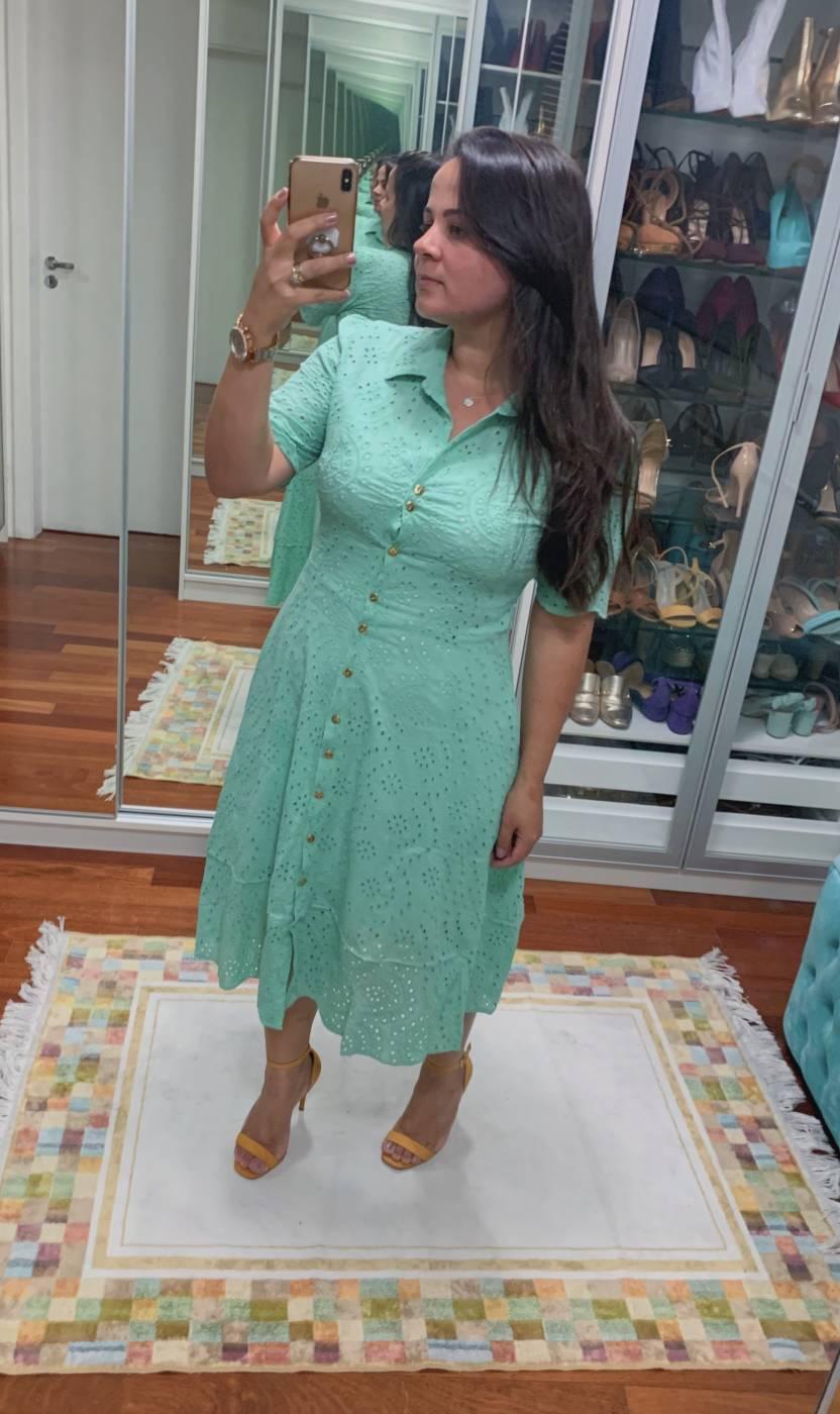 Vestido Midi Laise Lekazis