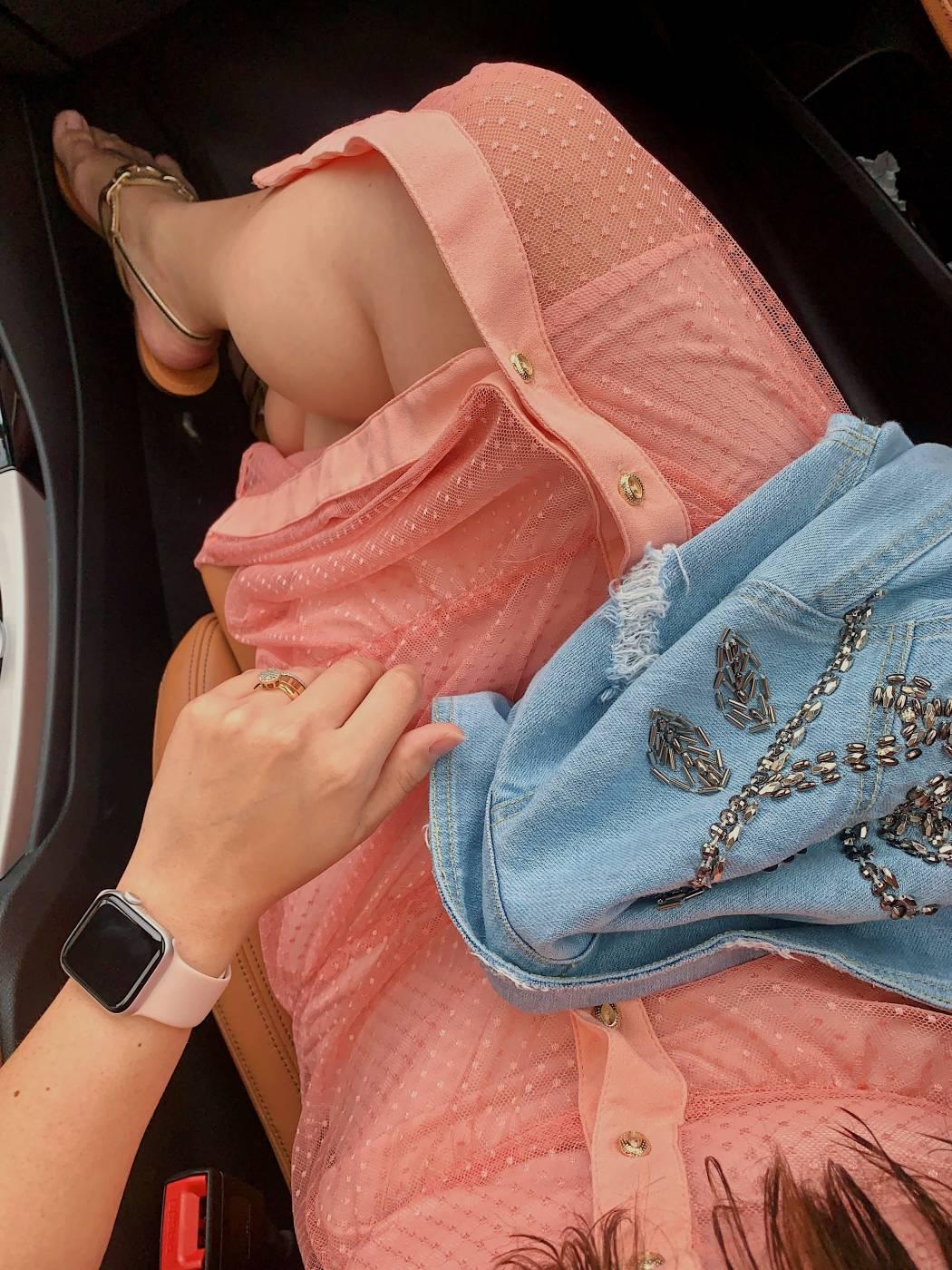 Vestido Midi Tule Poa Rosê