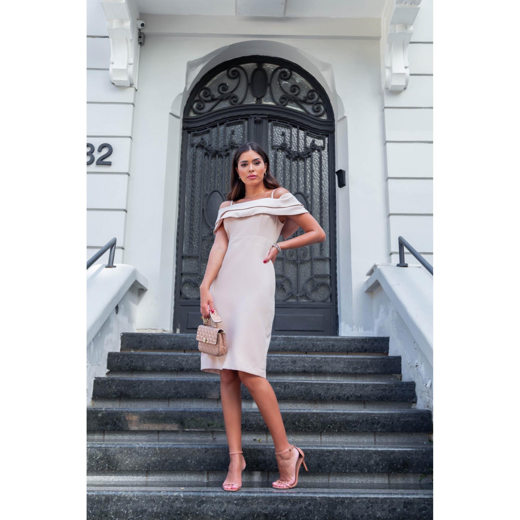 Vestido Clarice - AREIA