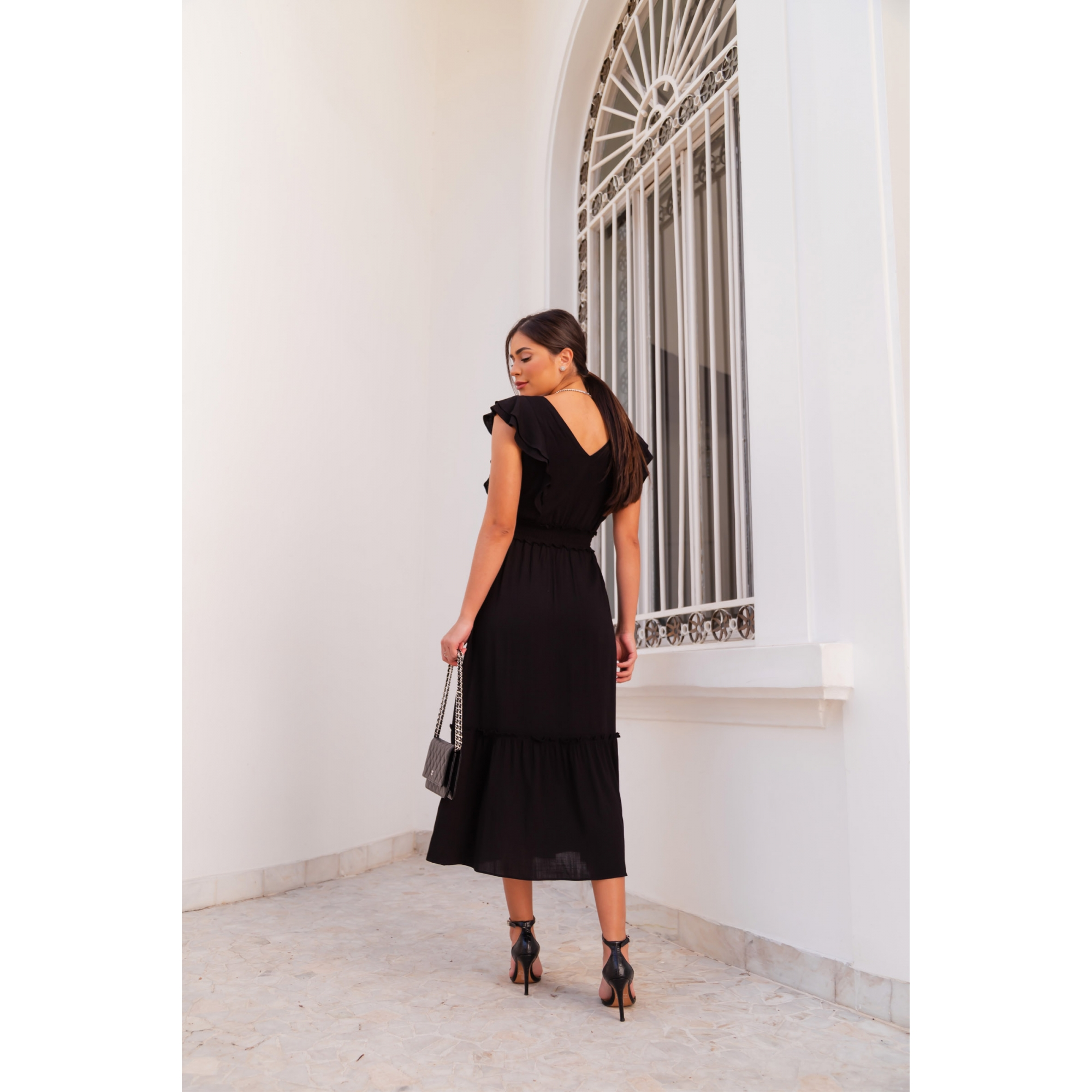 Vestido Flora - PRETO