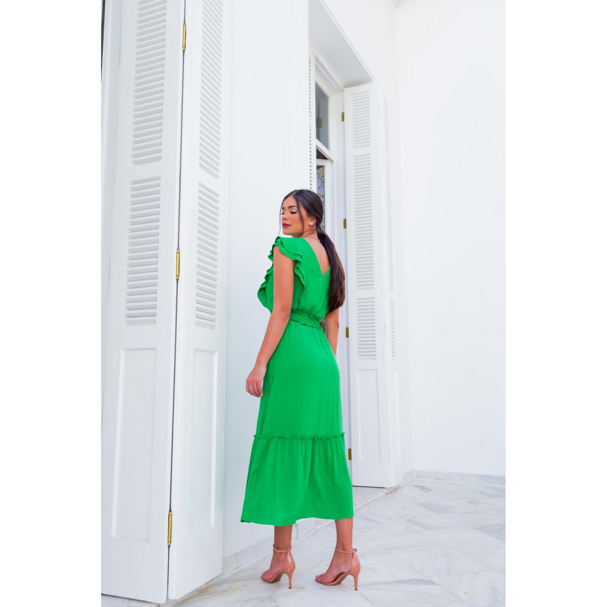 Vestido Flora - VERDE
