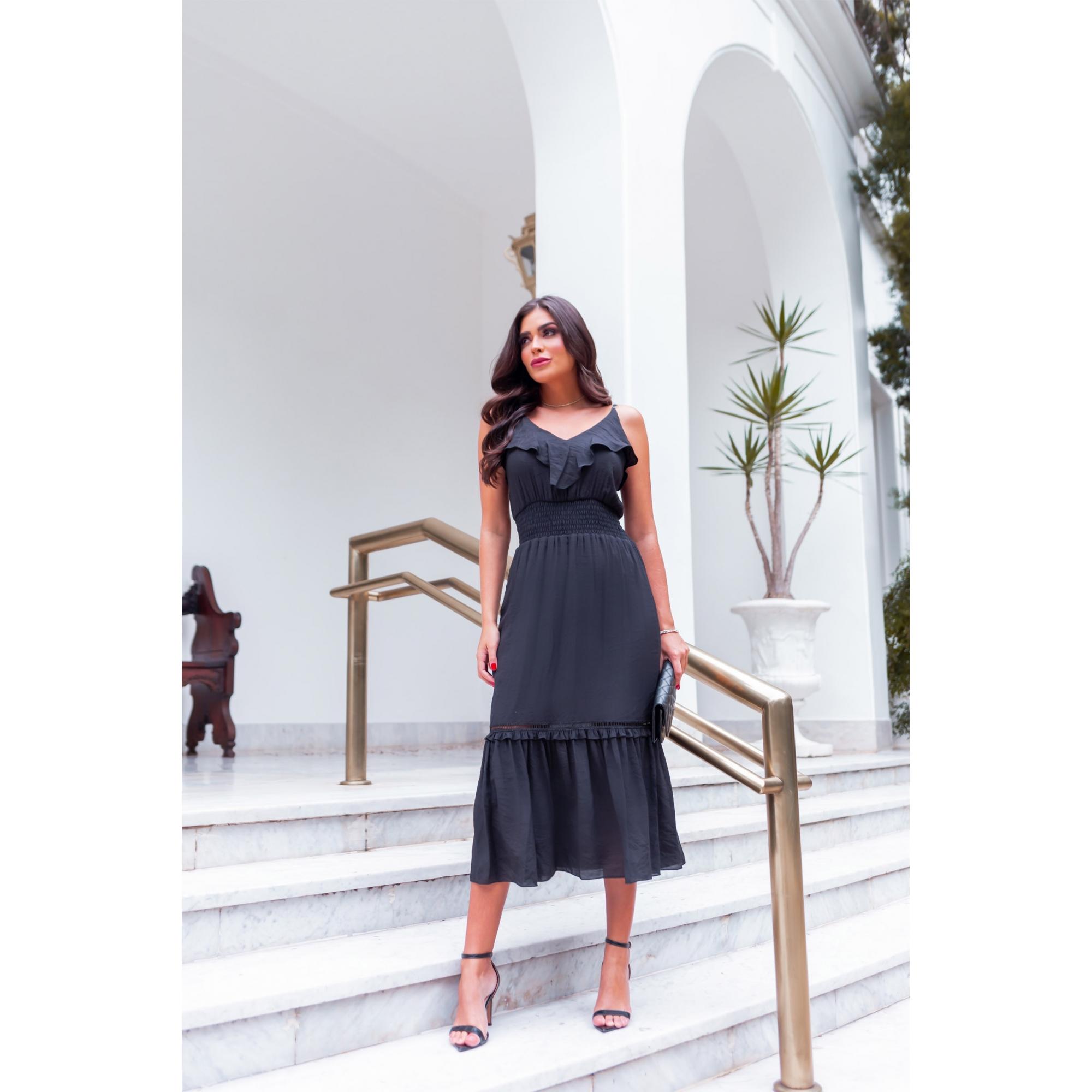 Vestido Ísis - PRETO
