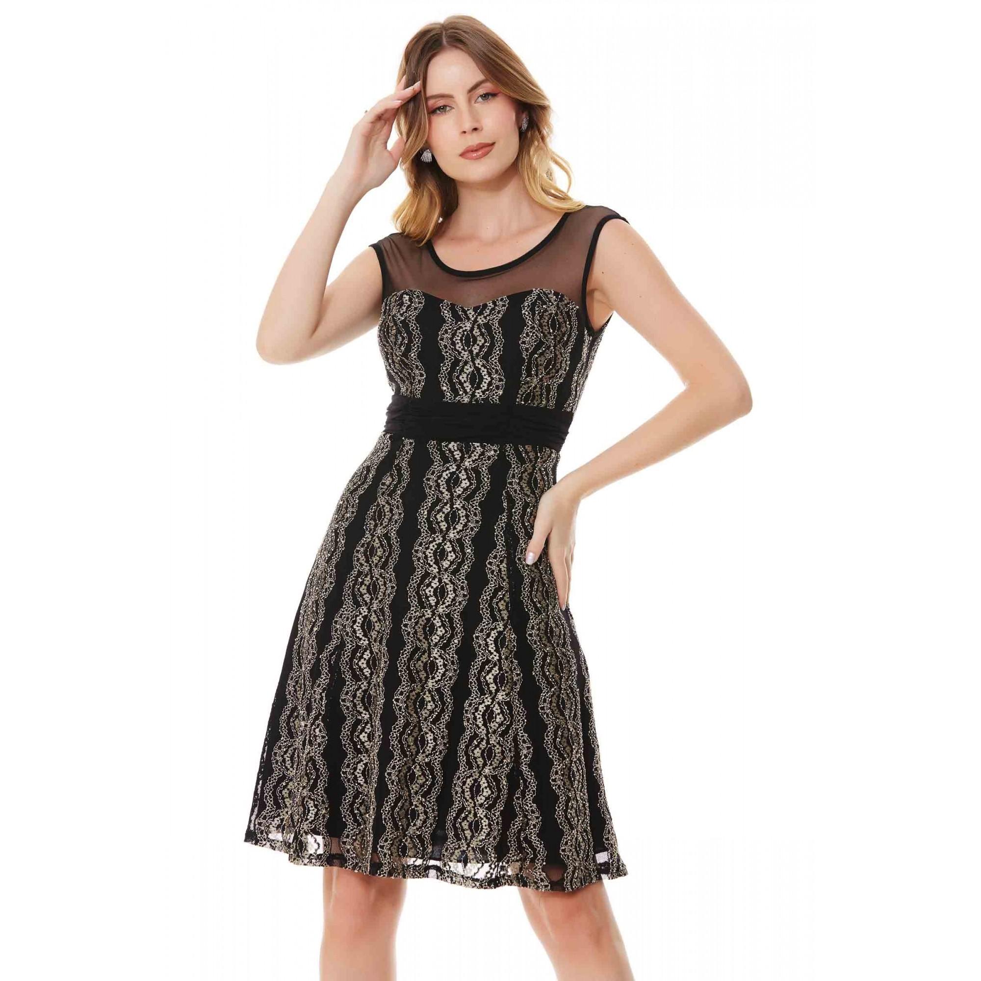 Vestido Luana - PRETO