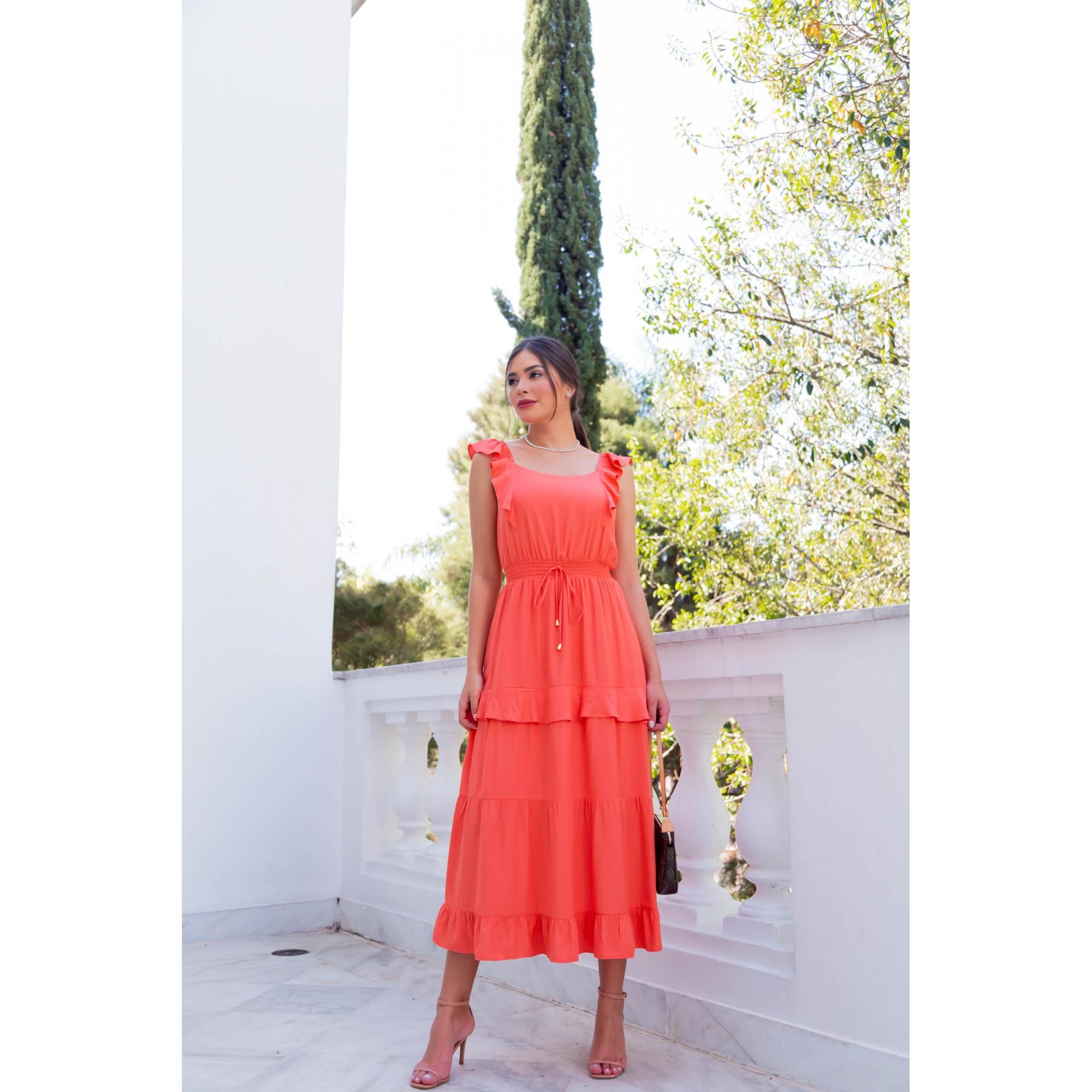 Vestido Marina - CORAL