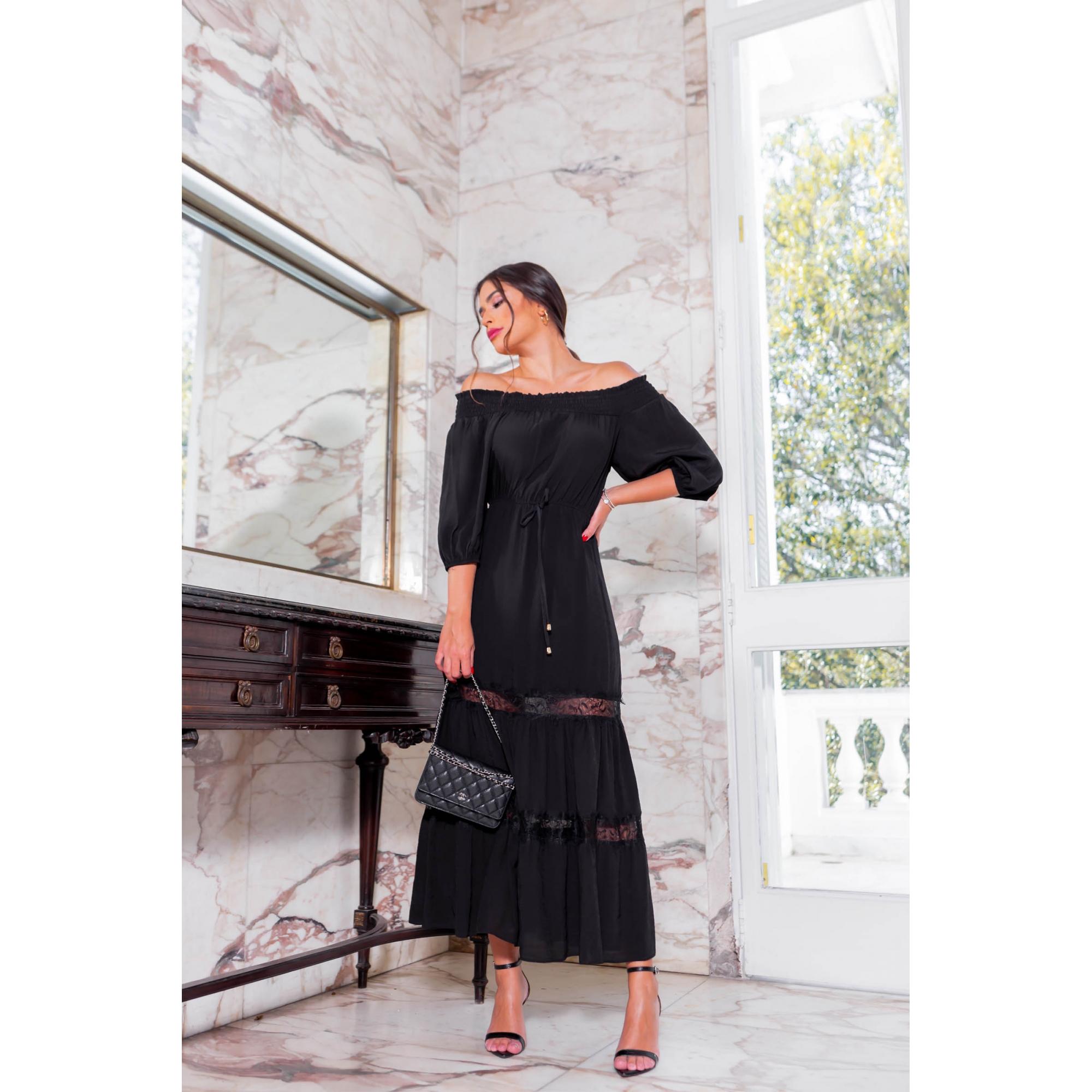 Vestido Naya - PRETO