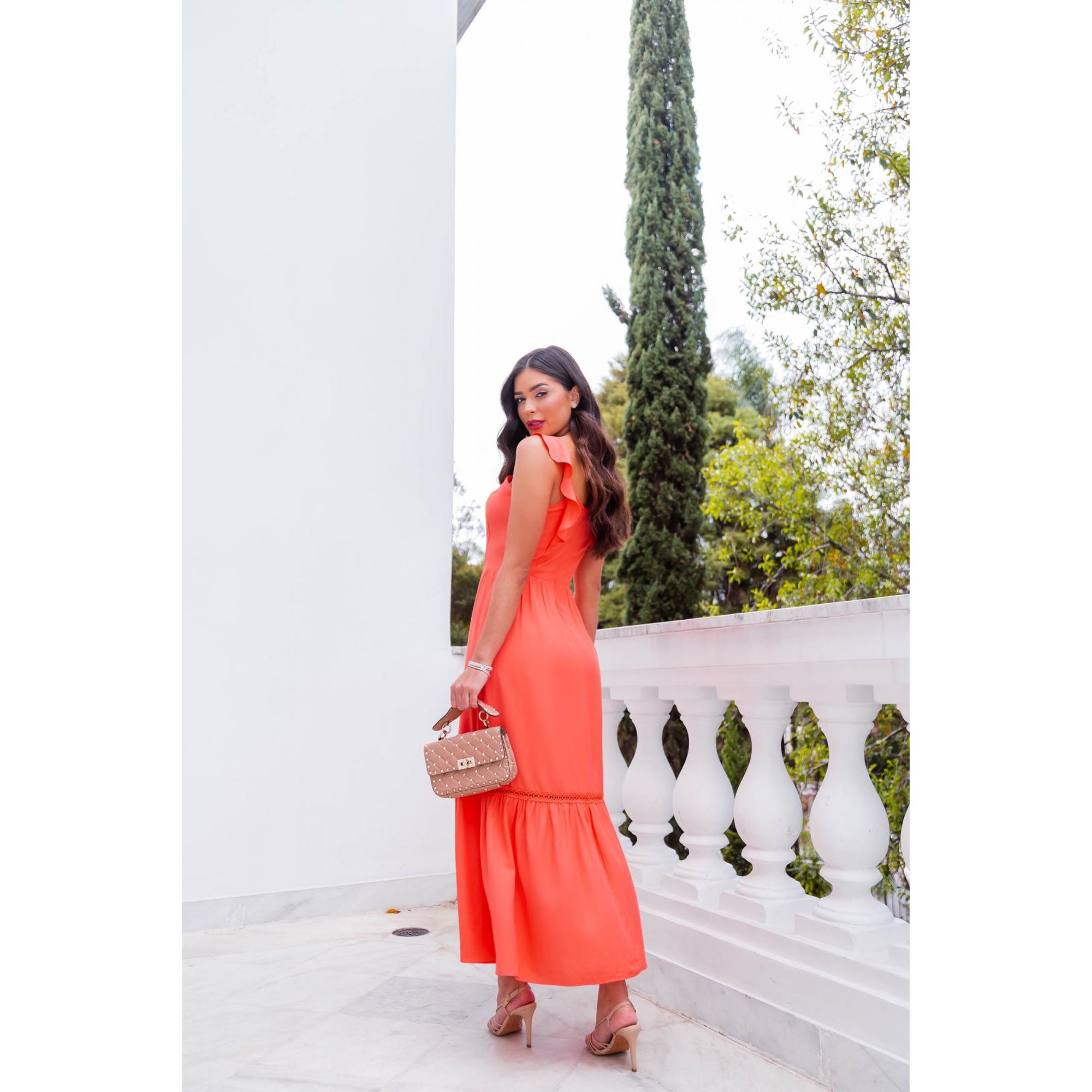 Vestido Sara - CORAL