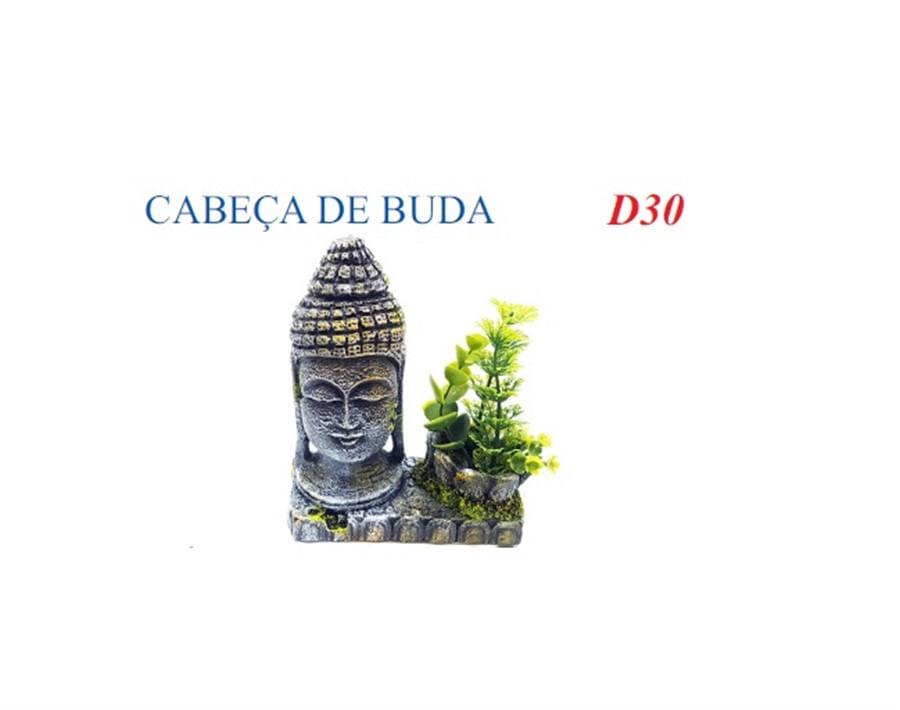 Aquária Enfeite Artificial Cabeça de Buda (D-30)