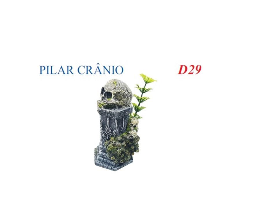 Aquaria Enfeite Artificial Pilar Crânio (D-29)