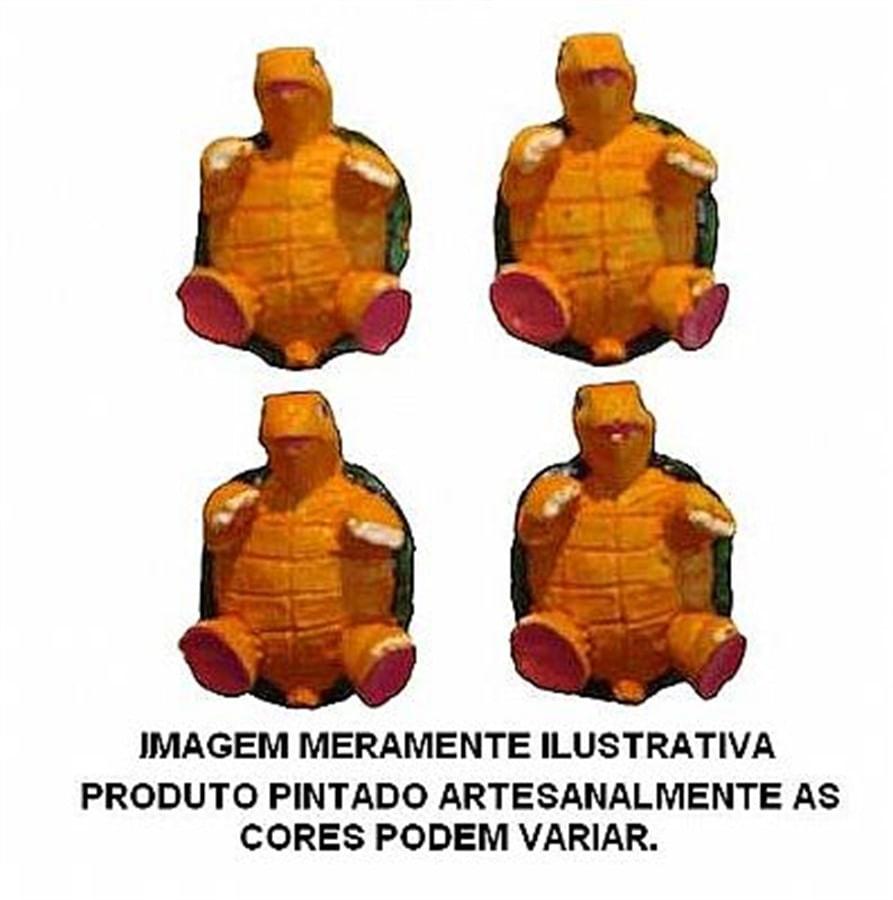 Aquária Enfeite de Resina Tartaruga p/ Mão (4x) (A-02)