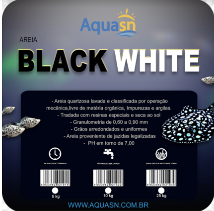 Aquasn Areia Black White