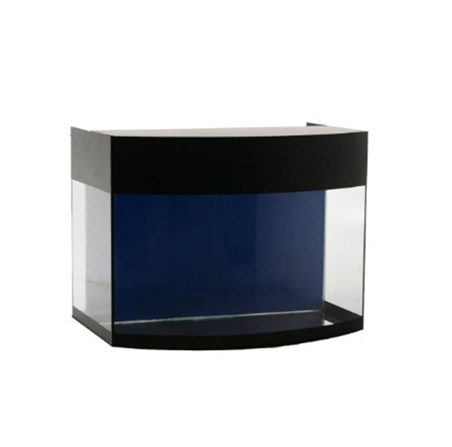 Aquaterrário Aquario curvo com sump traseiro 60x37x50cm 84L