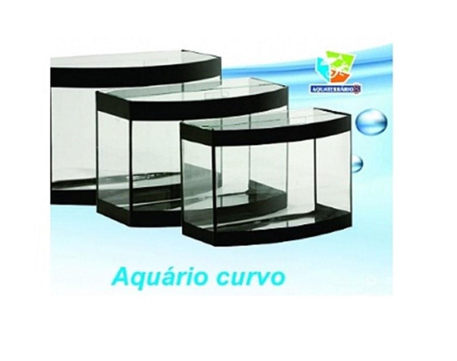 Aquaterrário Aquario curvo faixa preta 35x14x24cm 11L