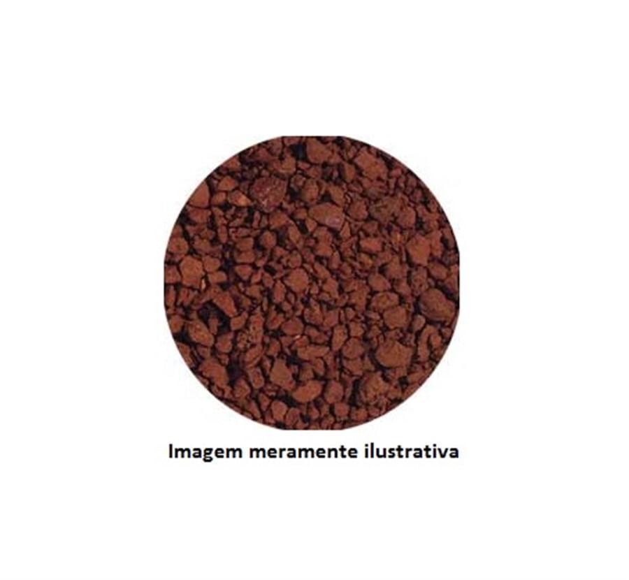 Argilita Cascalho Decorativo para Aquários 1kg (Terracota) - De 1mm a 3mm