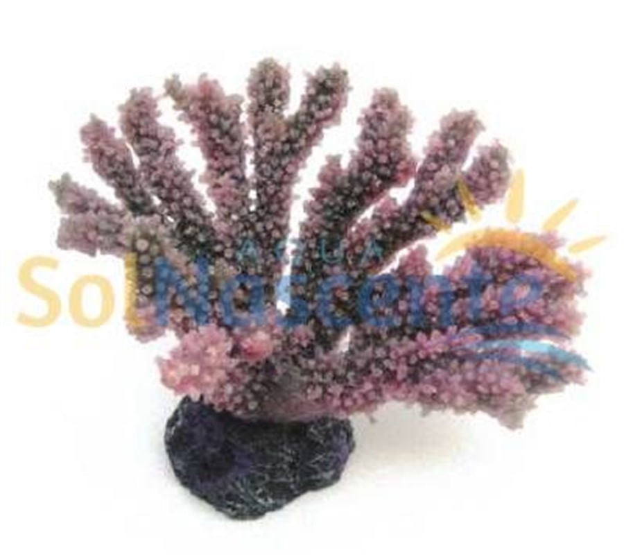 Artificial Coral Reef Acropora Porites Roxa(Enfeite de Silicone e Resina)