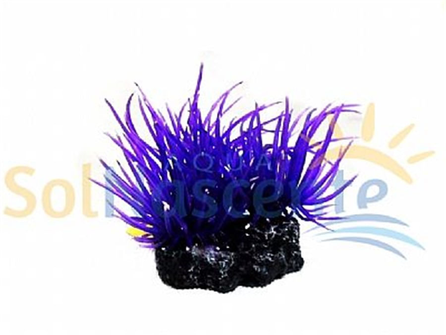 Artificial Coral Reef Anemona Long Tentacle Roxa Multi(Enfeite de Silicone e Resina)